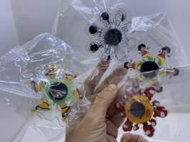 Fidget spinner plastic transparent