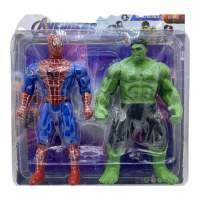 Set figurine Spiderman si Hulk