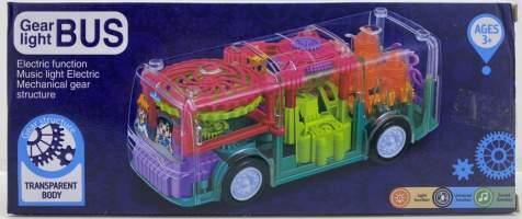 Autobuz transparent cu baterii si muzica