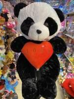 urs de plus  panda cu inima