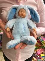 Bebe iepuras gen Anne Geddes pufos albastru Lumanare Botez