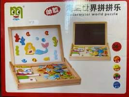 Set puzzle magnetic din lemn cu Micuta Sirena