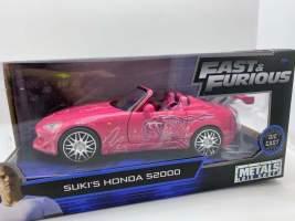 Macheta metal Fast and Furious Sukis Honda S2000 scara 1:24