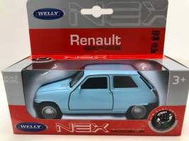 Macheta Renault 5 albastru 1/34