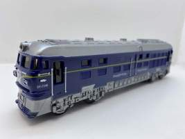 Tren - locomotiva albastra cu sunete si lumini.