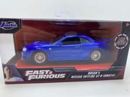 Macheta Fast and Furious Brian s Nissan Skyline gtr 1/32