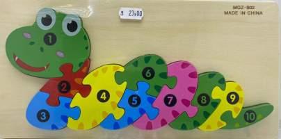 Puzzle Incastru sarpe 10 piese
