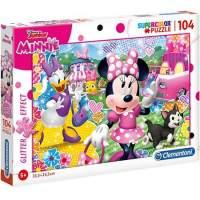 Puzzle Clementoni Minnie Mouse Supercolor sclipici 104 piese