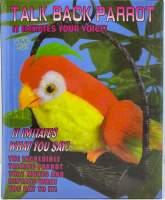 Papagal rosu care inregistreaza si reda