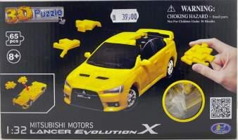 Puzzle 3D Mitsubishi Lancer Evo 1/32