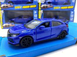 Macheta 2015 Honda Civic type r pull-back, blue 1/36