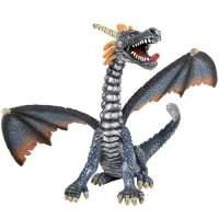 Figurina dragon argintiu