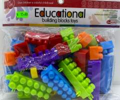 Set cuburi tip lego de plastic