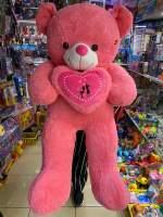 Urs cu inima Romeo roz 1,25m