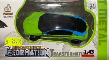 Masina Transformer verde metal