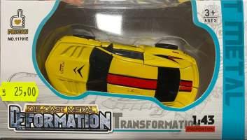 Masina Transformer galben metal