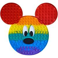 Jucarie antistres, Pop It forma Mickey Mouse multicolor