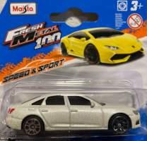 Macheta Audi A6 2019 alb scara 1/72