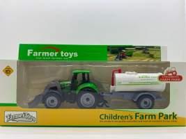 Jucarie tractor cu cisterna