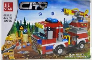 Lego camion de pompieri cu tunuri de apa 52006