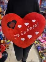 Inima rosie Te iubesc mare