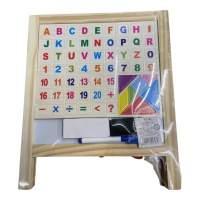 Tablita de scris Whiteboard / creta din lemn cu litere magnetice