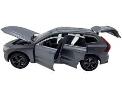Macheta din metal Volvo XC60 gri cu lumini si sunet scara 1:32