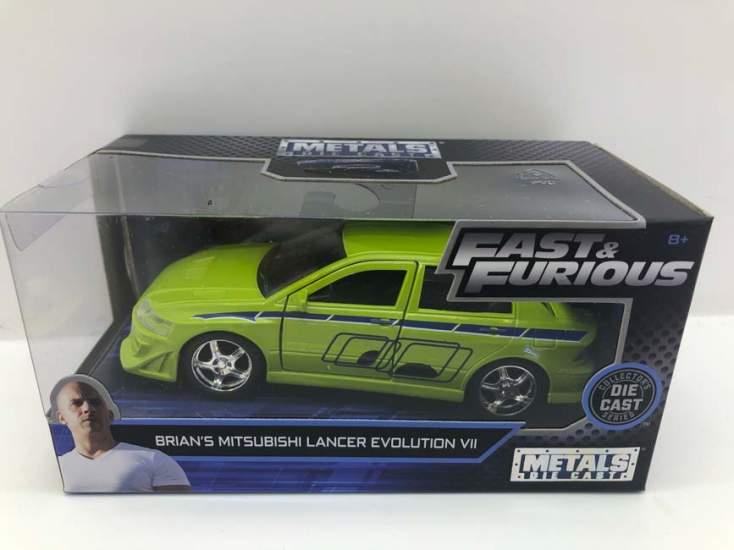 Macheta Fast and Furious Mitsubishi lancer evo VII Brian verde1/