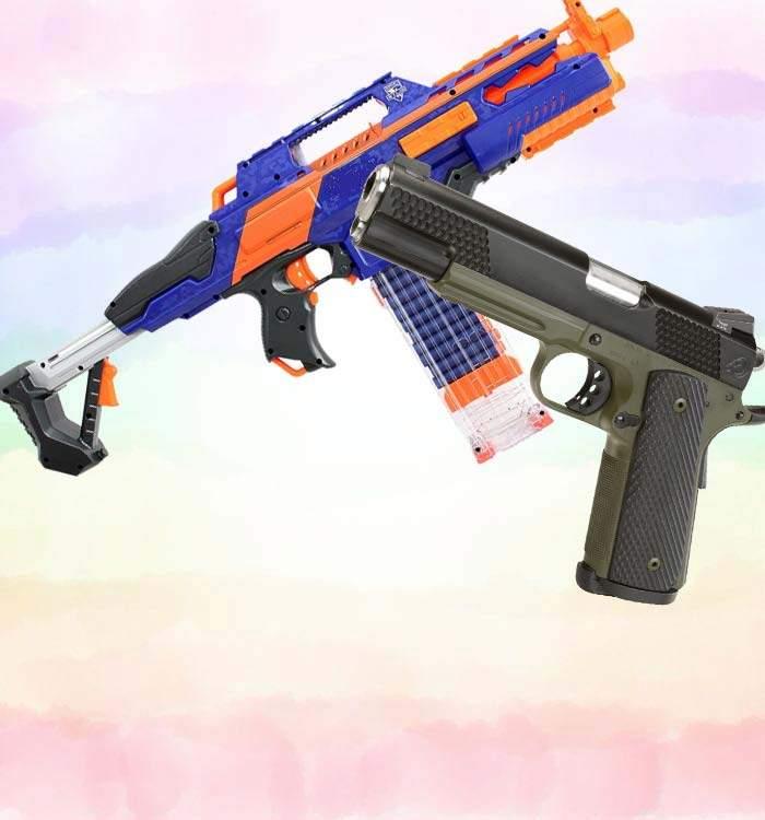 pusti si pistoale de jucarie pentru copii
